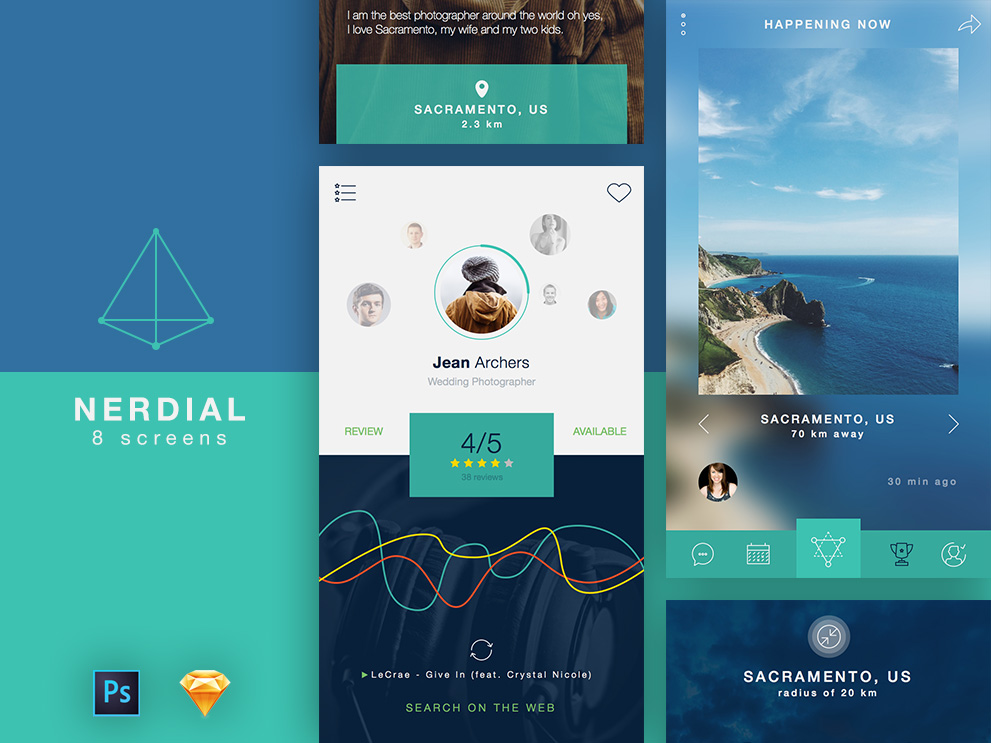 Google Material Design Template For Android Social Networking